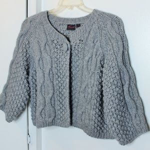 Torrid Grey Chunky Cable Knit Cardigan Sweater 3